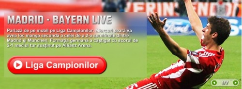 Liga Campionilor cote, pariaza Liga Campionilor, pariaza real madrid bayern monaco, finala Liga Campionilor